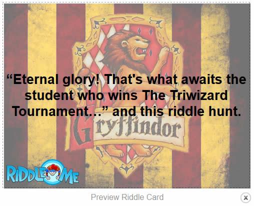 Harry Potter Riddle Scavenger Hunt